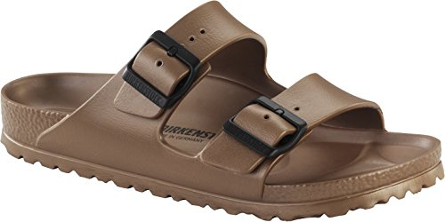 (Birkenstock Unisex Arizona Essentials EVA Metallic Copper Sandals - 37 Narrow)