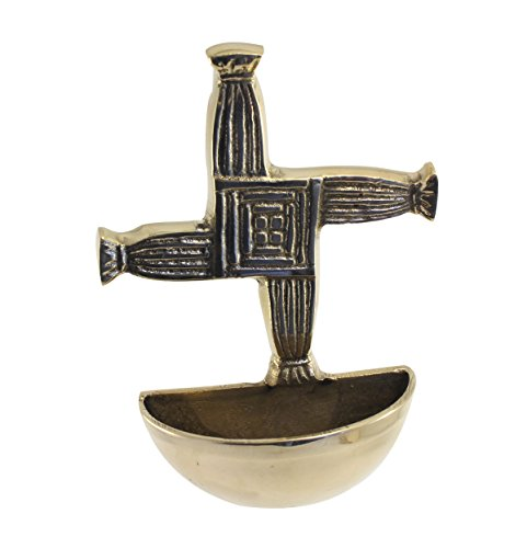 St. Bridgets Cross Brass Holy Waterfont by Liffey Artefacts