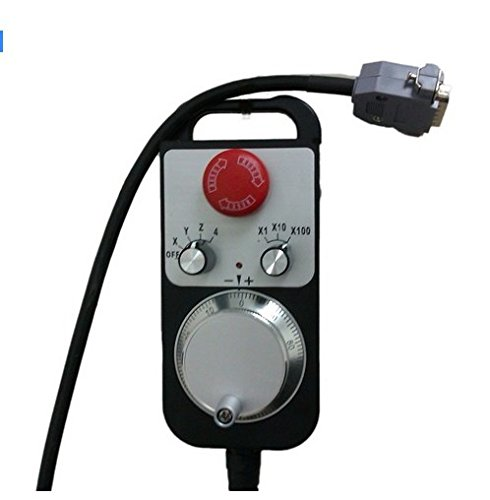 GOWE CNC Controller Hand wheel Encoder 6 axles MPG Manual Pulse Generator with E stop Milling Machine color:line driver 100ppr 3
