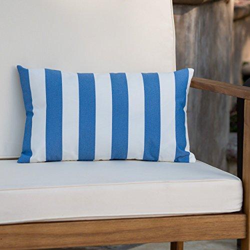 Christopher Knight Home 302963 Coronado Ckh Outdoor Pillow, Blue + White by Christopher Knight Home