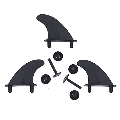 A ALPENFLOW G5, G4 and 9 inches Fin Surfboard Black Fins for Surfboard Softboard and SUP Stand Up Paddle Board