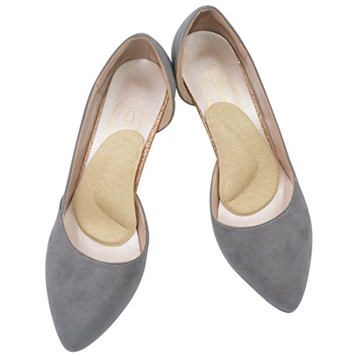 Arch Support Shoe Insert for High Arches or Flat Feet, Plantar Fasciitis,Shoe Pad for Relieving Pain for Women Fallen Arch 2 Pairs (Suede Beige) (Best Pointe Shoes For High Arches)