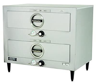 """Toastmaster 3B84DT72 29"""" Free-Standing 2 Drawer Warmer with Individual Thermostats - 208/240V, 850/980W"""