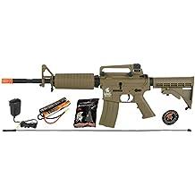 Lancer Tactical M4A1 AEG Metal Gears Airsoft Gun Rifle w 9.6v Battery & Charger