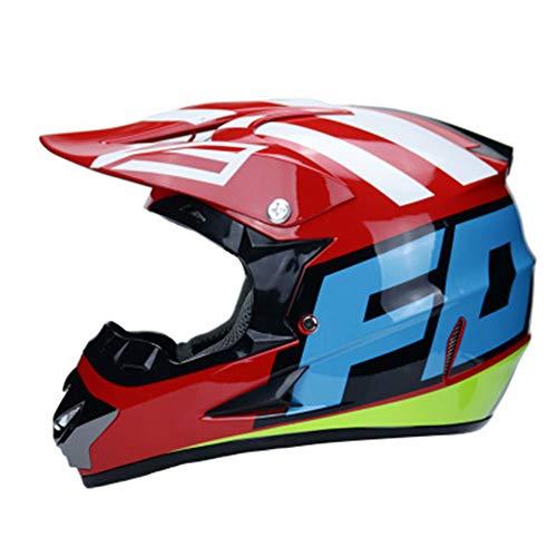 Adult Helmet Man Woman Motorbike Full Face Motorcycle Road Race ATV Crash Helmet Off-Road Motorbike Karting Motocross Helmets Included Mask Gloves Goggles,XL ()
