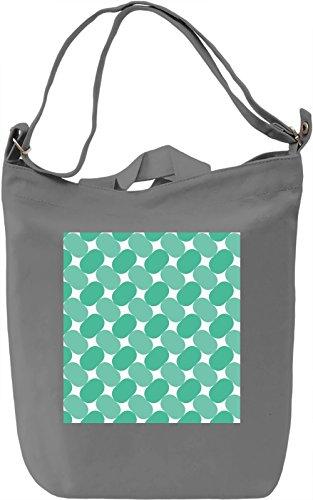 Green Print Borsa Giornaliera Canvas Canvas Day Bag| 100% Premium Cotton Canvas| DTG Printing|