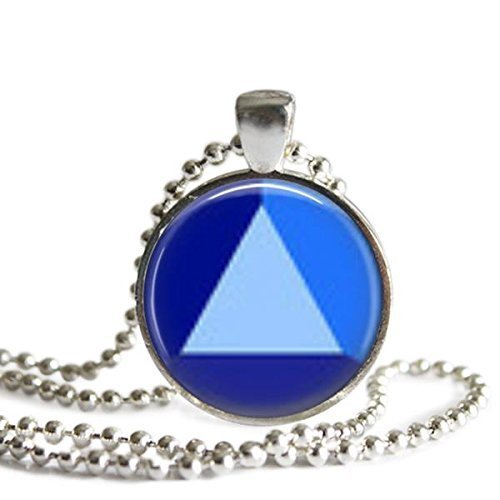 (Steven Universe Sapphire Gem 1 inch Silver Plated Picture Pendant Necklace)