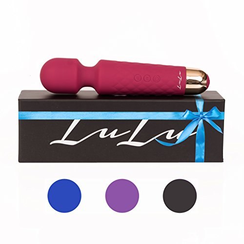 ❤️ LuLu 7 Therapeutic Wand Massager: Cordless Wand For Sore And Injured Muscles – Rechargeable Massaging With 8 Intense Speeds, 20 Patterns-Made Of Hypoallergenic Body-Like Silicone