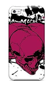 Excellent Design Skull Case Cover For Iphone 5c