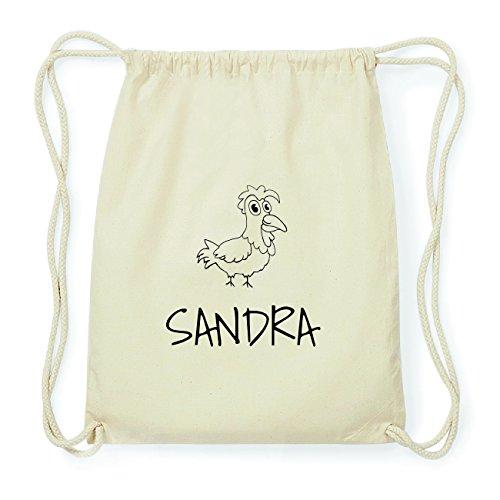 JOllipets SANDRA Hipster Turnbeutel Tasche Rucksack aus Baumwolle Design: Hahn qFw9ibCcuN