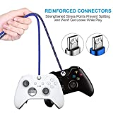 Charger Cable for Xbox One Controller - 2 Pack 10FT Nylon Braided Micro USB 2.0 Charge and Play Data Sync Cord for Xbox One S/X, Playstation 4, dualshock 4 Controller, Samsung, Android Phone