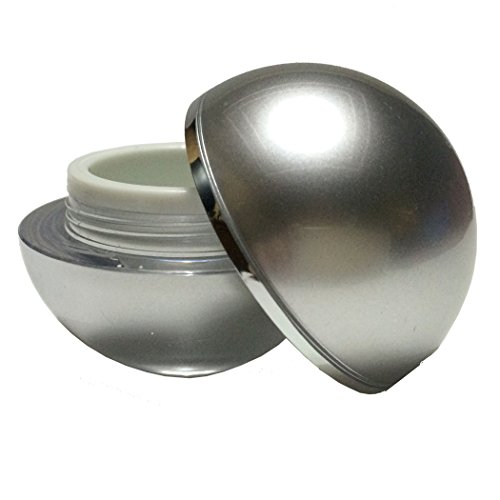 Perfectos Pack of 6 Silver Curve Lid 5 Ml Acrylic Clear Empty Container Cosmetic (Body Balm Curve)