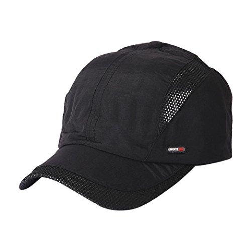 適格シーフード符号HUYB夏 人気 野球キャップ 若者 男女兼用 スウェット キャップ 帽子 無地  かっこいい シンプル 帽子 カラフル ストライプ 帽子 メッシュキャプ 通気性