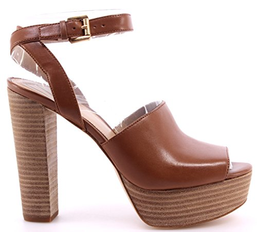 Chaussure Escarpins Femme MICHAEL KORS Trina Platform Leather Luggage Marron New