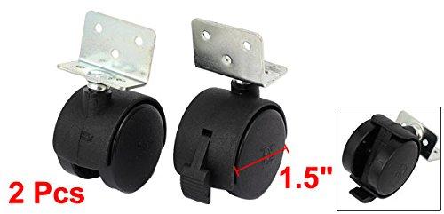 Sourcingmap A16093000UX0511/38/mm 3,8/cm diametro ruota piastra superiore girevole universale girevole freno Caster/ /nero pezzi