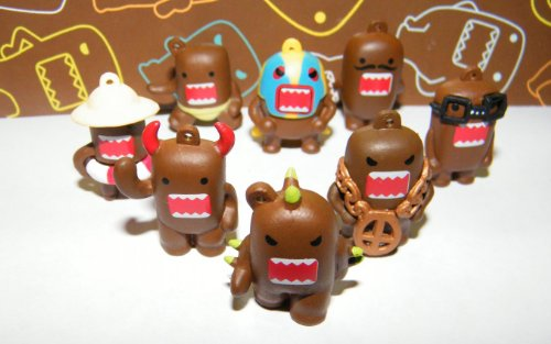 Domo Figure Set of 24 Vending Toys Very Funny with Bonus Sticker