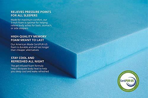Buy rated gel memory foam mattress topper