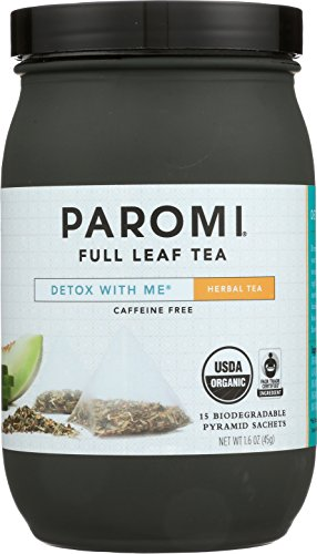 Paromi Tea Detox with Me Organic Herbal Tea, 15 Tea Bags, Organic Rooibos Tea with Lemongrass, Peppermint, Juniper Berry and Natural Flavors, Delicious Hot or Iced ()