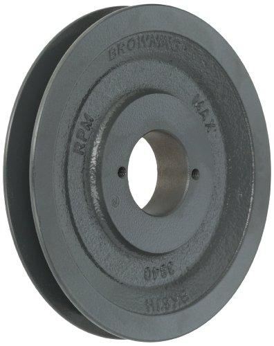 Browning BK67H Bushed Classical Gripbelt Sheave, 4L or A, 5L or B Belt, 1 Groove, Uses H Bushing -