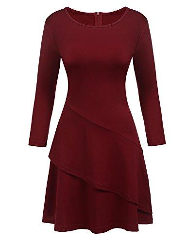 Ruffled Wrap Dress - 8