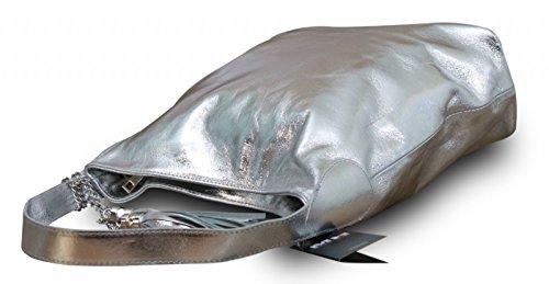 My-Musthave, Borsa a spalla uomo Argento argento Medio