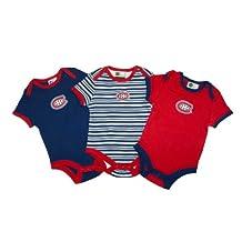 Montreal Canadiens Newborn 3-Piece Creeper Set