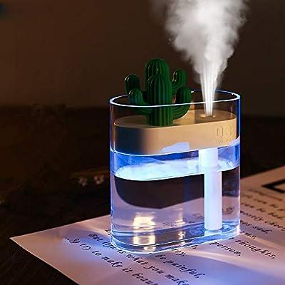 FAY 160 ml por ultrasonidos humidificador de Aire, Mini USB del difusor del Aceite Esencial, difusor de Aroma, de Iones Negativos pulverizador-Transparente Iluminado Cactus humidificador: Amazon.es: Hogar
