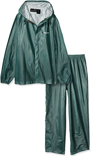 Frogg Toggs Ultra-Lite2 Waterproof Breathable Rain Suit, Men's, Green, Size Medium