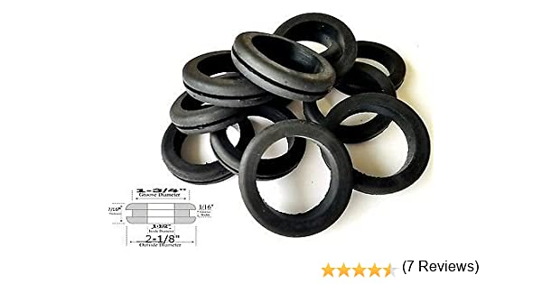 Lot of 18 Rubber Grommets 1-3//4 Inside Diameter Fits 2 Wall Panel Holes