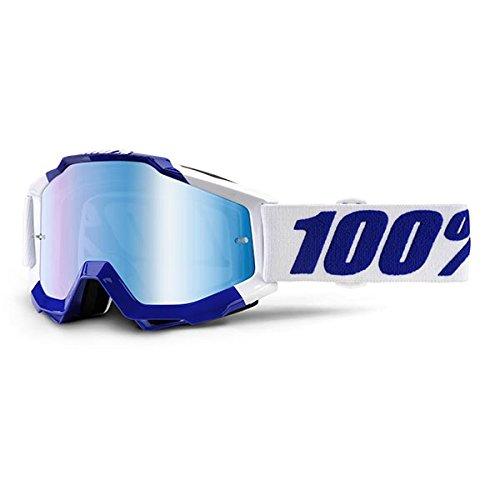 Inconnu 100% Accuri Calgary Máscara de Bicicleta de Montaña Unisex, Color Blanco 100AC|#100% 50210-228-02