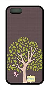 Cartoon Trees - iPhone 5S Case Funny Lovely Best Cool Customize Black Cover