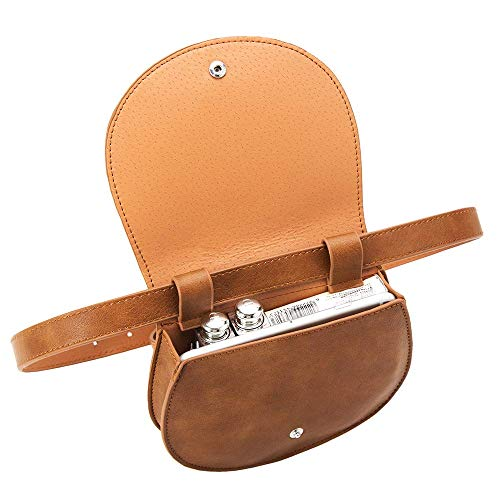 Fanny Pack with Adjustable Belt for Keeping Phone, Wallet, Keys, Lipstick - Great for Travel, Hiking, and Shopping (Brown)