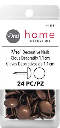 Dritz Home 44281 Smooth Decorative Nails, 7/16-Inch, Antique Copper (24-Piece) from Dritz