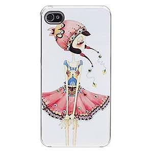 GDW Falda de la muchacha Caso duro del patrón de colores para el iPhone 4/4S