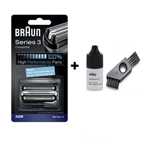 Braun razor Replacement Foil & Cutter Cassette 32B Series 3 320 330 340 350CC black shaving heads