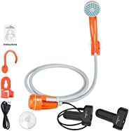 FLYFISH Portable Camping Shower, Portable Shower for Camping Pump with Dual Detachable USB Rechargeable Batter