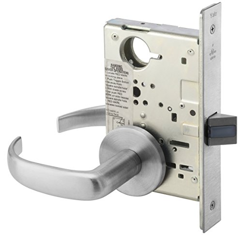 Yale PBR 8801FL 626 RH Heavy Duty Mortise Lockset, Lever, Passage