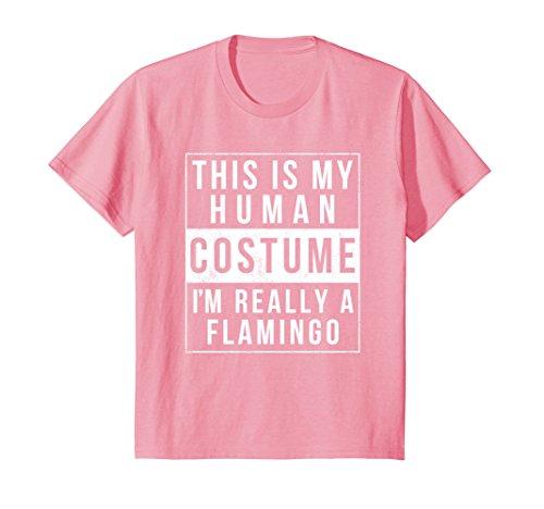 Kids Flamingo Halloween Costume Shirt Funny Easy for Kids Adults 12 (Girls Flamingo Costumes)