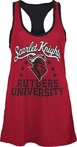 Three Square by Royce Apparel NCAA Rutgers Scarlet Knights Nelly Tank, Medium, Red