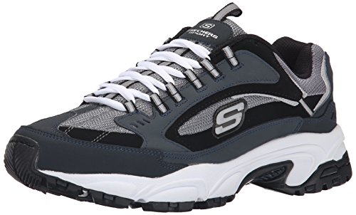 (Skechers Sport Men's Stamina  Cutback Lace-Up Sneaker,Navy Cutback,9.5 M US)