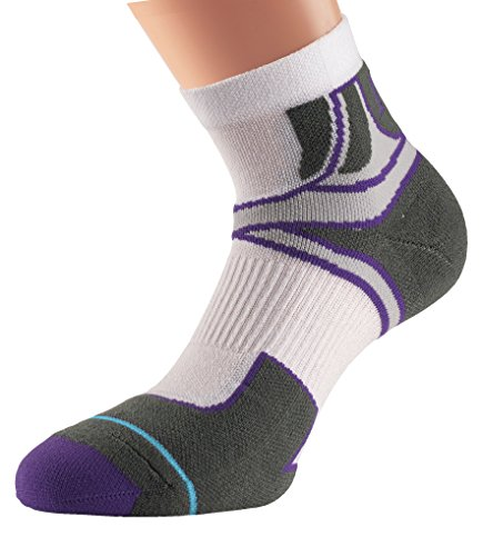 Women's Blanc 1000 violet Aw17 Sport Chaussettes Cross Mile OOqStPA