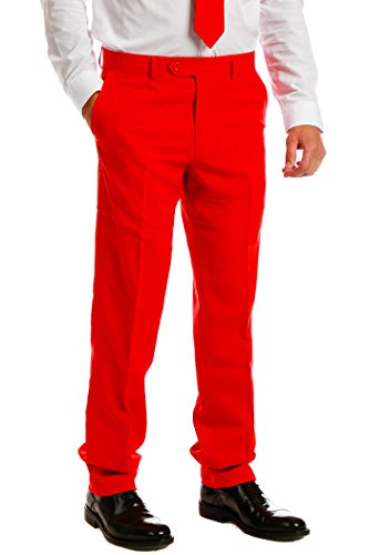 [Men's Solid Red Suit by OppoSuits - Individual Jacket, Pants, or Tie] (Morph Suit Costumes Ideas)