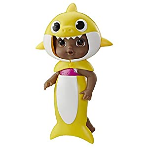 Baby Alive, Baby Shark Black Hair Doll, with Tail and Hood, Inspired by Hit Song and Dance, Waterplay Toy for Kids Ages…