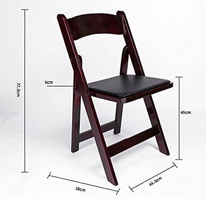 JHZY Sedie di Legno Pieghevoli Sedie da Pranzo Sedie di Moda