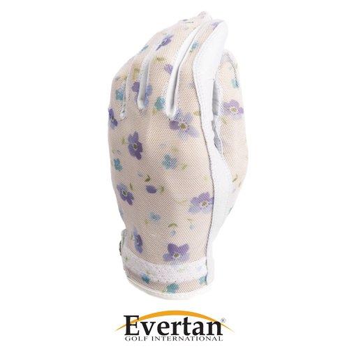 Evertan – Tan Throughゴルフグローブ – バター花 – L   B00C23DC80