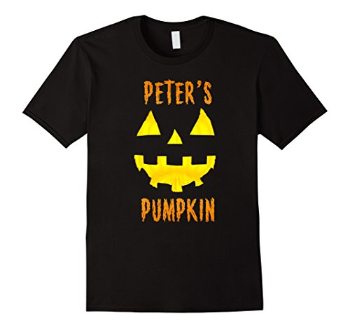 Mens Couples Halloween Costume Ideas Peter's Pumpkin T-Shirt Large (Scary Couples Costume Ideas)