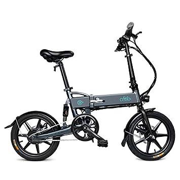 Elektrofahrräder Dieron Faltendes Elektrisches Fahrrad,Wasserdichtes 250W 36V E-Bike in weiß