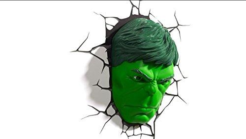 3DLightFX Marvel Avengers Hulk Face 3D Deco Light