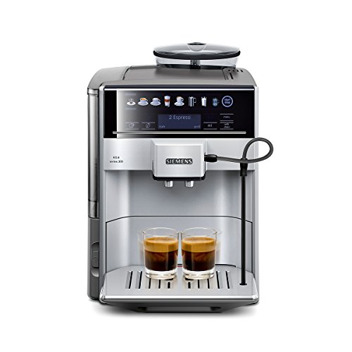 Siemens TE613501DE Kaffeevollautomat EQ.6 300 Direktwahl durch Sensorfelder, oneTouch Function, hochwertiges Keramik-Mahlwerk, silber / hellgrau