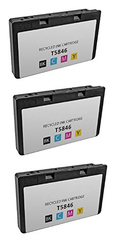 Picturemate Dash (3-Pack Remanufactured T5846 for use in PictureMate Charm PM 225, PictureMate Dash PM 260, PictureMate Flash PM 280, PictureMate Pal PM 200, PictureMate Show PM 300m Printer.)